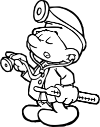 smurf coloring pages doctor smurf coloring page wecoloringpage