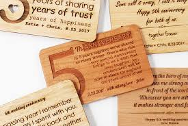 5th wedding anniversary gifts for him custom wooden wallet insert card fifth wedding anniversary gift