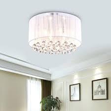 white drum light fixture chandeliers flush mount drum chandelier romantic white flannel