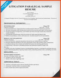 Paralegal Sample Resume Paralegal Resume Program Format