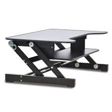 computer sit stand work station desk mount laptop table stand