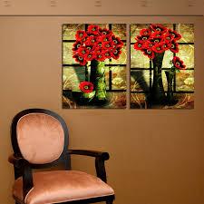 Design For Vase Painting Aliexpress Com Buy 2 Panel Paint Picture Vintage Floral Oil