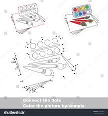 watercolor paper dot dot educational game stock vector 729894472