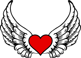 Hearts With Wings - wings n clip at clker com vector clip