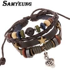 wrist bracelet men images Vintage leather braided wrist band bracelets men braclets for men jpg