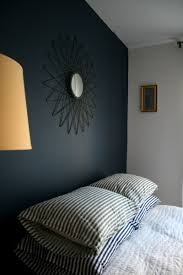 Navy Accent Wall by Navy And Grey Painted Room A Deep Bold Navy Blue Paint On The
