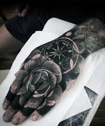 tattoo compass hand 50 badass hand tattoos for men masculine design ideas