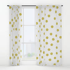 Yellow White Curtains Preppy Window Curtains Society6