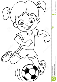 outlined soccer stock vector image 86587076