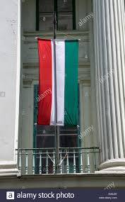 the hungarian flag in budapest hungary stock photo royalty free