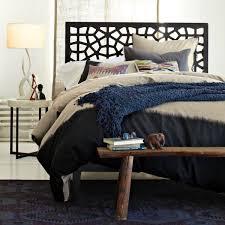 Modern Headboards Bedrooms Amazing Dark Cozy Bed With Modern Wooden Lacy Headboard