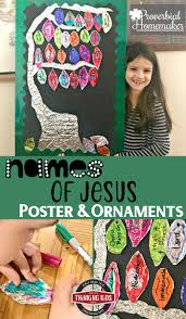 names of jesus poster and ornaments craft thinking