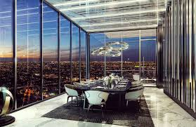 apartments luxury modern penthouse dining room with large frame
