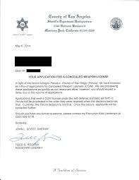 response from lasd regarding my application calguns net