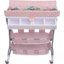 rolling baby changing table homcom baby changing table unit changing station storage trays and