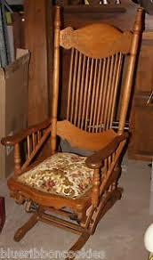 Armchair Glider Antique Wisconsin Chair Company Glider Rocker Rocking Chair