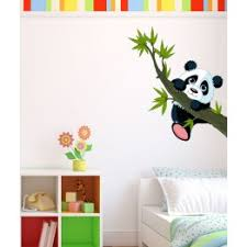 stickers panda chambre bébé stickers petit panda adhésif panda autocollant enfants stickers