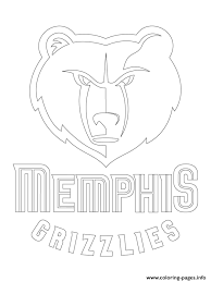 lakers coloring pages memphis grizzlies logo nba sport coloring pages printable