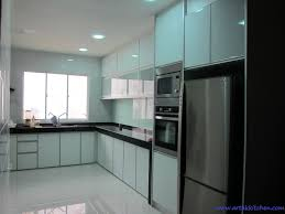 stylish aluminium kitchen cabinet in interior remodel ideas with