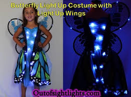 Light Up Costumes Watch Your Little Glitter And Glow With This Blue And Green