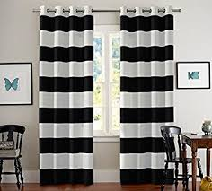 Black And White Blackout Curtains Black And White Stripes Curtain Panels Grommet Thermal