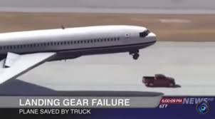 nissan titan 2016 youtube plane with landing gear failure saved by truck
