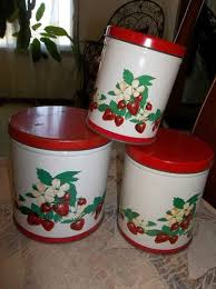 vintage metal kitchen canister sets 142 best vintage kitchen canisters images on vintage