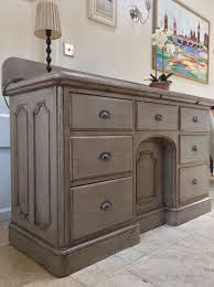 Antique Painted Sideboard Victorian Painted Sideboard Sideboard Multichest Grey Dresser Cupboard