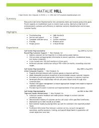 Call Center Sample Resume by Samples Resumes Berathen Com