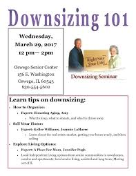 downsizing downsizing panel oswego senior center