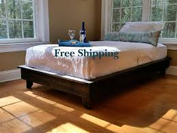 platform bed low profile bed ava solid wood bed bed frame