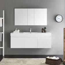 Fresca Medicine Cabinet Fresca Mezzo 60 U201d Wall Hung Single Sink Bathroom Vanity W Medicine