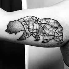 a star and ca bear tattoo on shoulder golfian com
