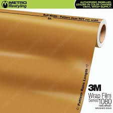 brushed gold 3m 1080 br241 brushed gold vinyl wrap for wraps and accent