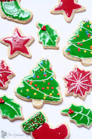 flooding with royal icing for sugar cookies christmas cookies