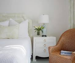 Soft Yellow Bedroom White And Yellow Bedroom With Blue Ginger Jar Lamp Transitional