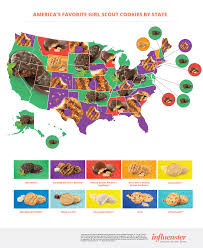 Las Vegas On A Map Of America by Scout Cookies Map Most Popular In Every State Time Com