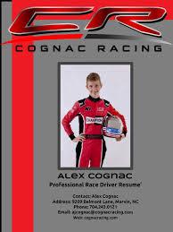 Car Driver Resume Alex Cognac Professional Race Driver Resume