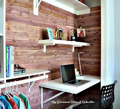 Built In Desk Diy Diy Cedar Planked Closet With Built In Desk Hometalk