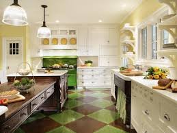 Painted Green Kitchen Cabinets Innovative Colors Green Kitchen Ideas In House Design Concept With