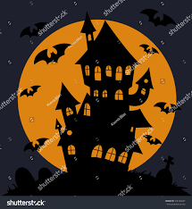 spooky house clipart haunted house vector stock vector 318184637 shutterstock