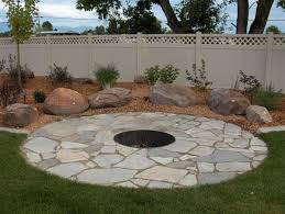 Flagstone Firepit Flagstone Firepit With Boulders Boulders Could Be Used As Seating