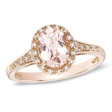 engagement rings from zales my thisoval morganite and accent ring in 10k