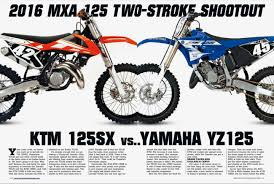 best 125cc motocross bike motocross action magazine two stroke shootout ktm 125sx vs