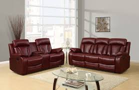 Rocking Reclining Loveseat With Console U97601 Burgundy Pu Console Reclining Loveseat By Global Furniture