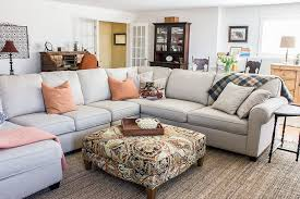 Family Room With Sectional Sofa Bright Basement Family Room Refresh Refreshed Designs