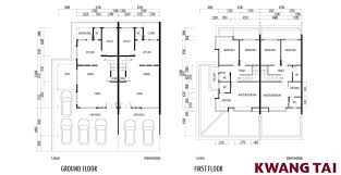 Floor Plan Two Storey by Central View Double Storey Terrace Kwang Tai