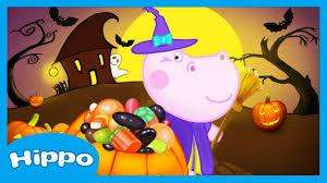 hippo halloween candy hunter cartoon game for kids youtube