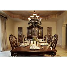 Rectangular Dining Room Chandelier by City Furniture Regal Dark Tone Rectangular Dining Room