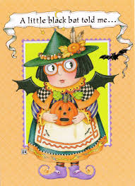 mary engelbreit a little bat told me halloween greeting card w